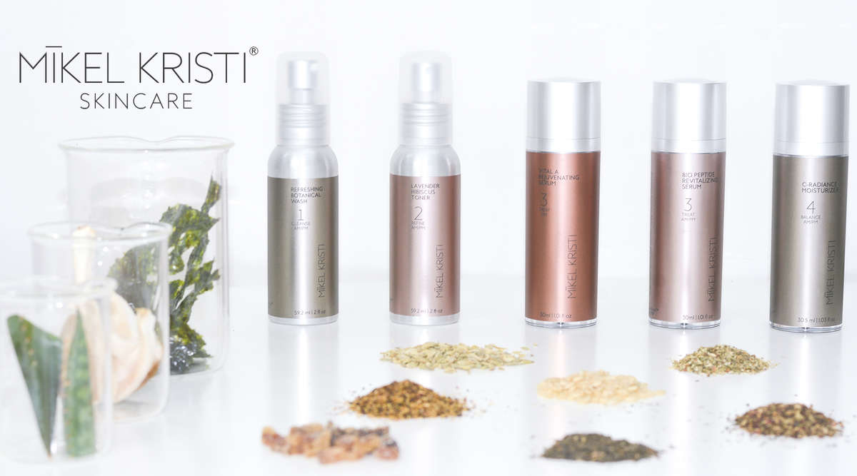 Mikel Kristi Skincare Products with Natural Ingredients